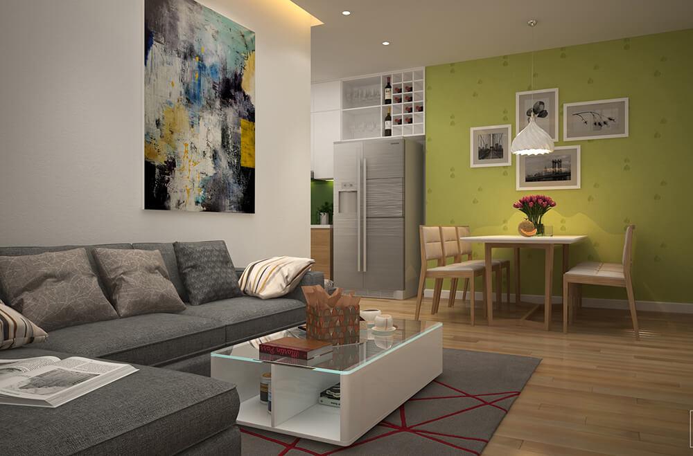 Không gian mở của căn hộ chung cư