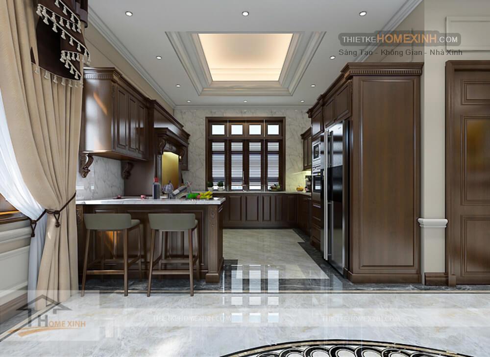 Nội thất tủ bếp được thiết kế hài hòa
