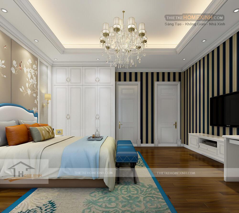 Tông màu sáng và trẻ trung dành cho phòng ngủ con trai