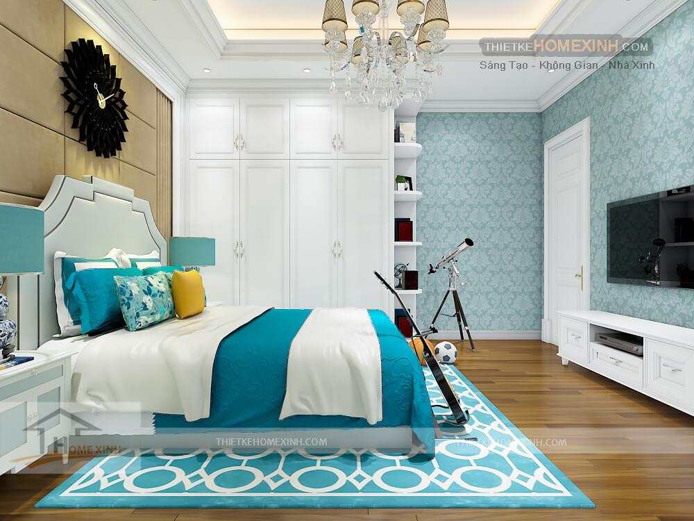 Căn phòng thiết kế đẹp và tiện dụng