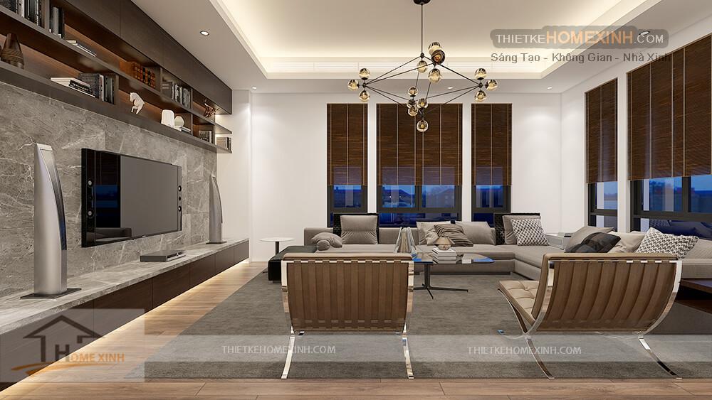 Phòng khách hiện đại và cá tính