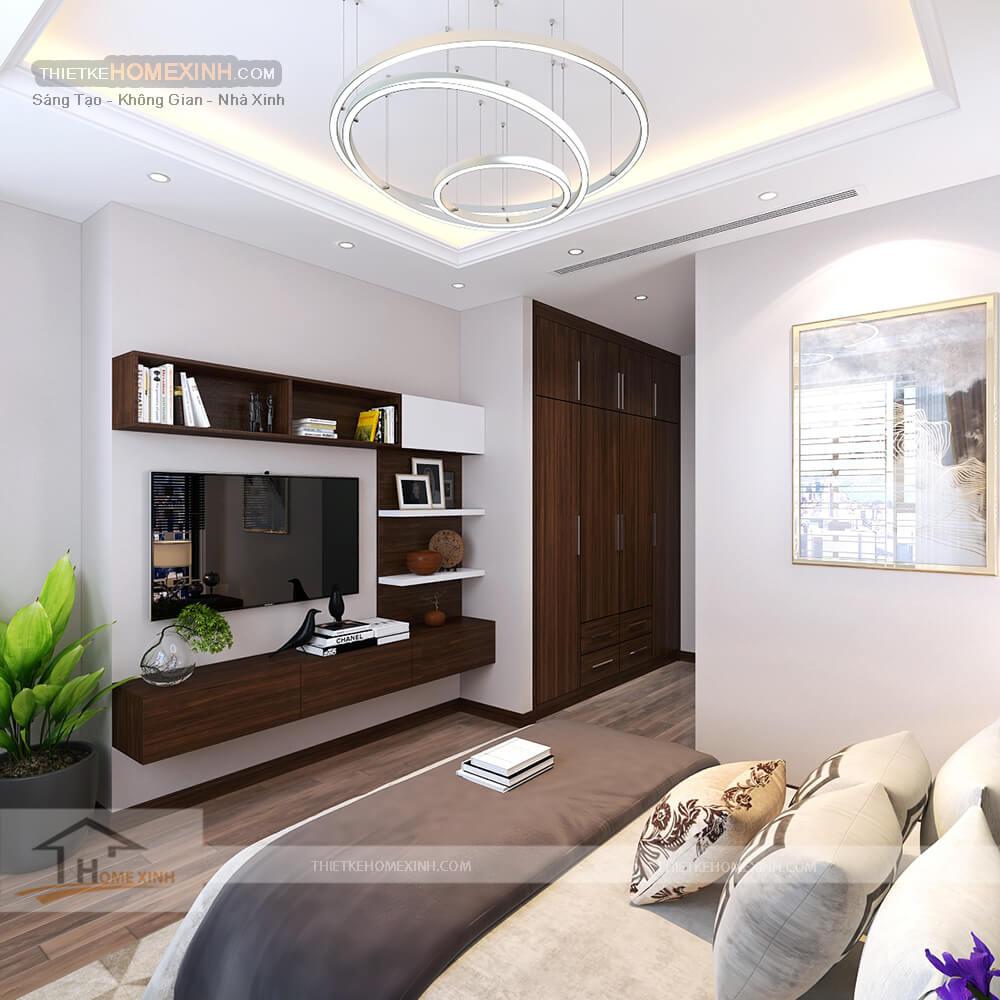 Thiết kế nội thất phòng ngủ biệt thự 530m2 tại Tây Hồ, Hà Nội - Nhà chị Hoa