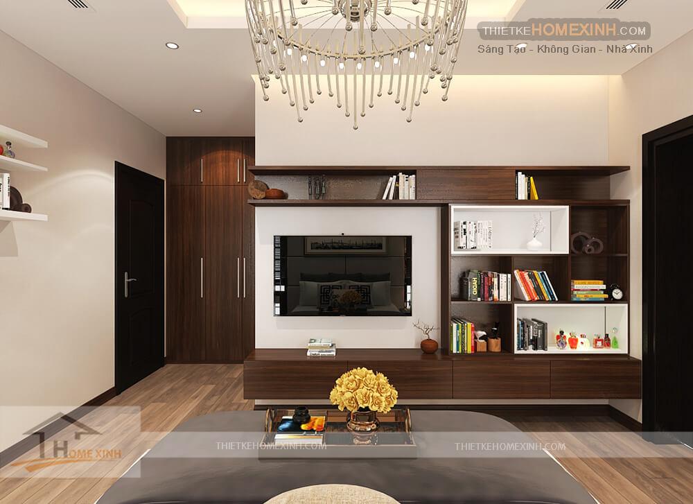 Kệ tivi thiết kế giúp gia chủ tận dụng được nhiều không gian để trang trí và lưu trữ đồ dùng