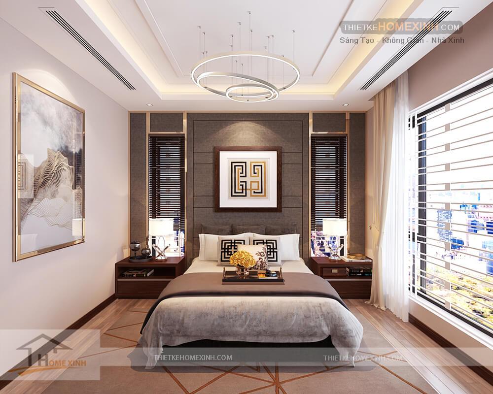 Thiết kế nội thất phòng ngủ con biệt thự 530m2 tại Tây Hồ, Hà Nội - Nhà chị Hoa