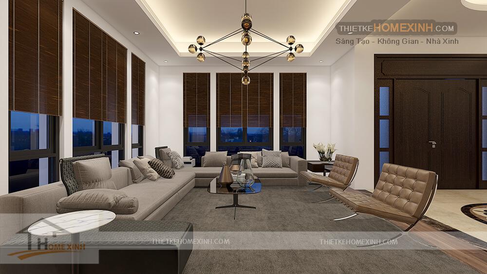 Căn phòng được thiết kế lịch sự và hiện đại với cửa sổ được lắp đặt có view rất đẹp