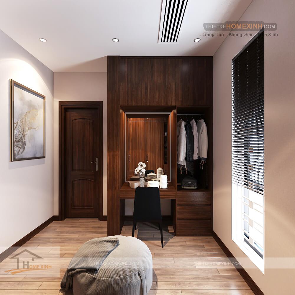 Thiết kế nội thất biệt thự 530m2 tại Tây Hồ, Hà Nội - Bàn trang điểm