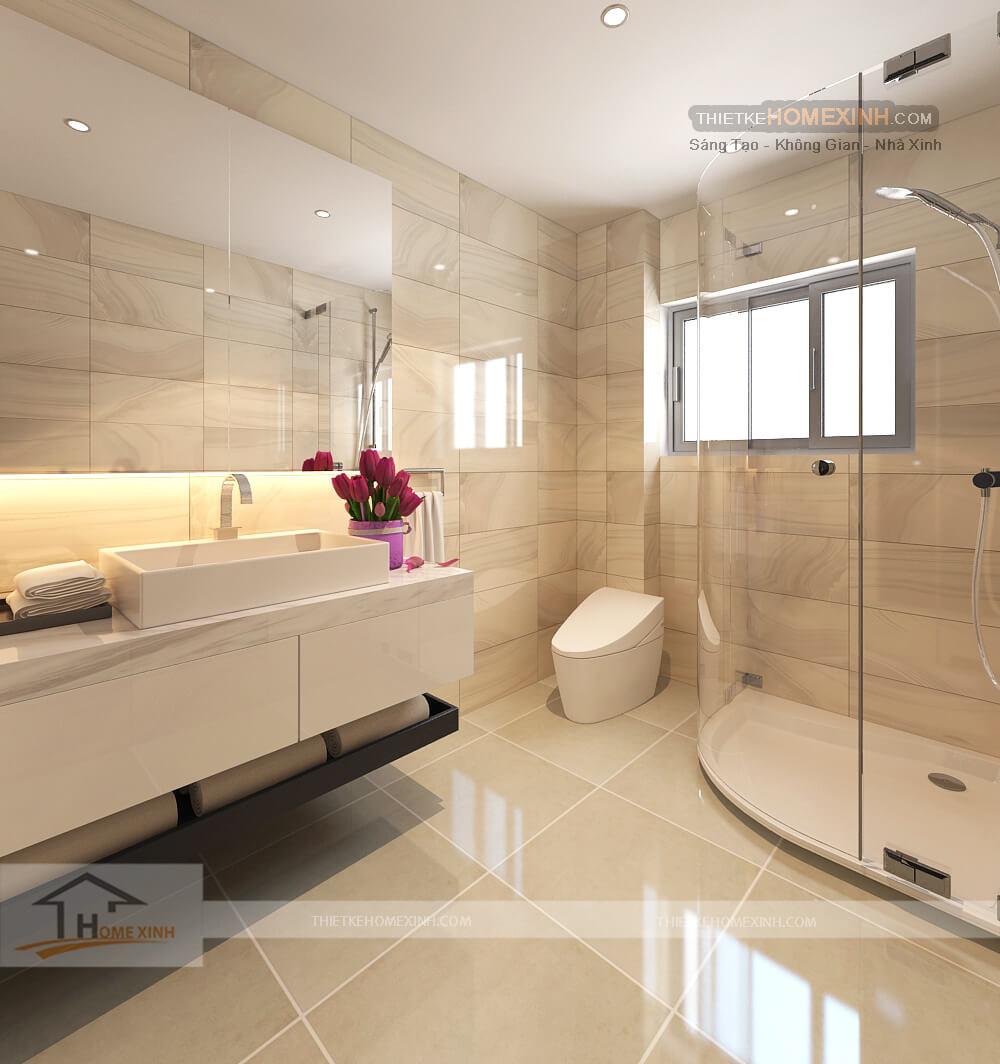 Thiết kế nội thất biệt thự 530m2 tại Tây Hồ, Hà Nội - Phòng tắm