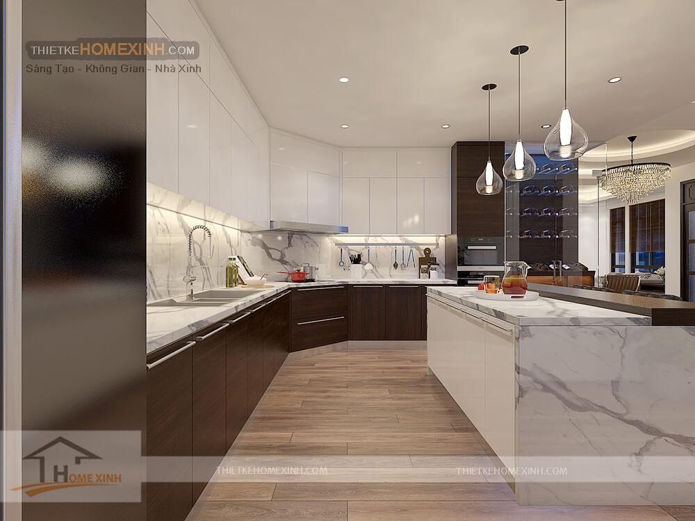 Nội thất tủ bếp làm bằng chất liệu cao cấp
