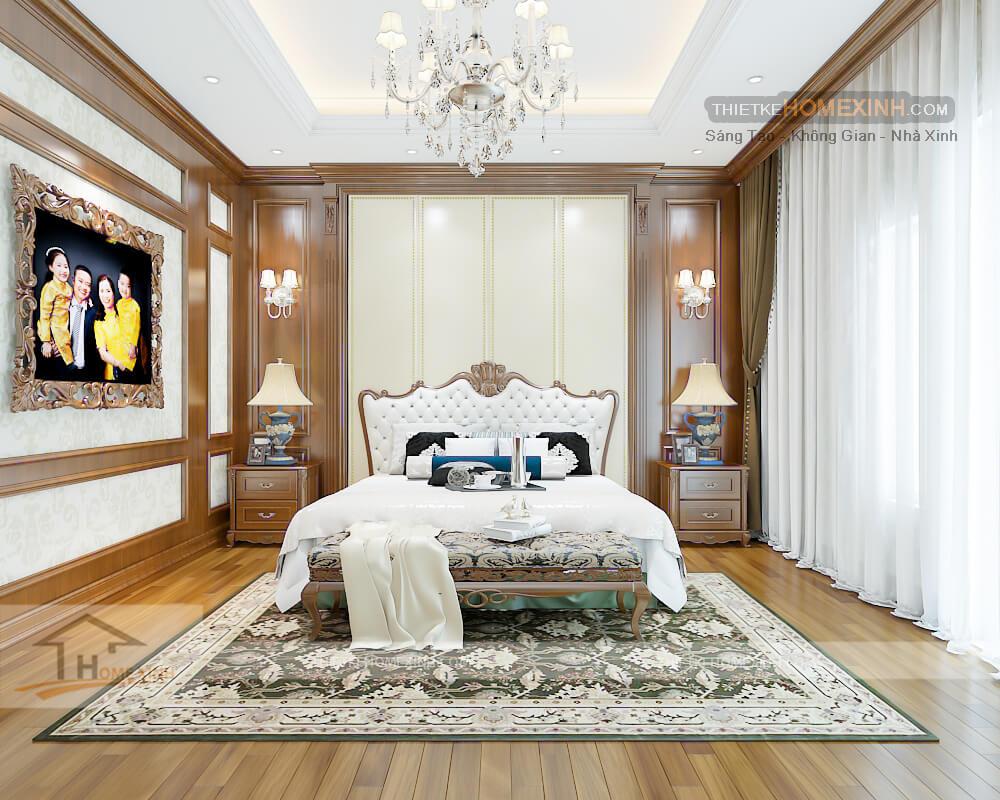 Phòng ngủ master thiết kế sinh động và sang trọng cùng sự ấm áp