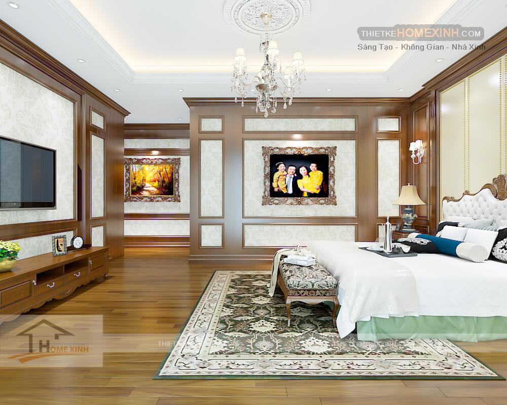 Các sản phẩm được hòa quyện với nhau tạo ra không gian rất đẹp cho phòng ngủ master