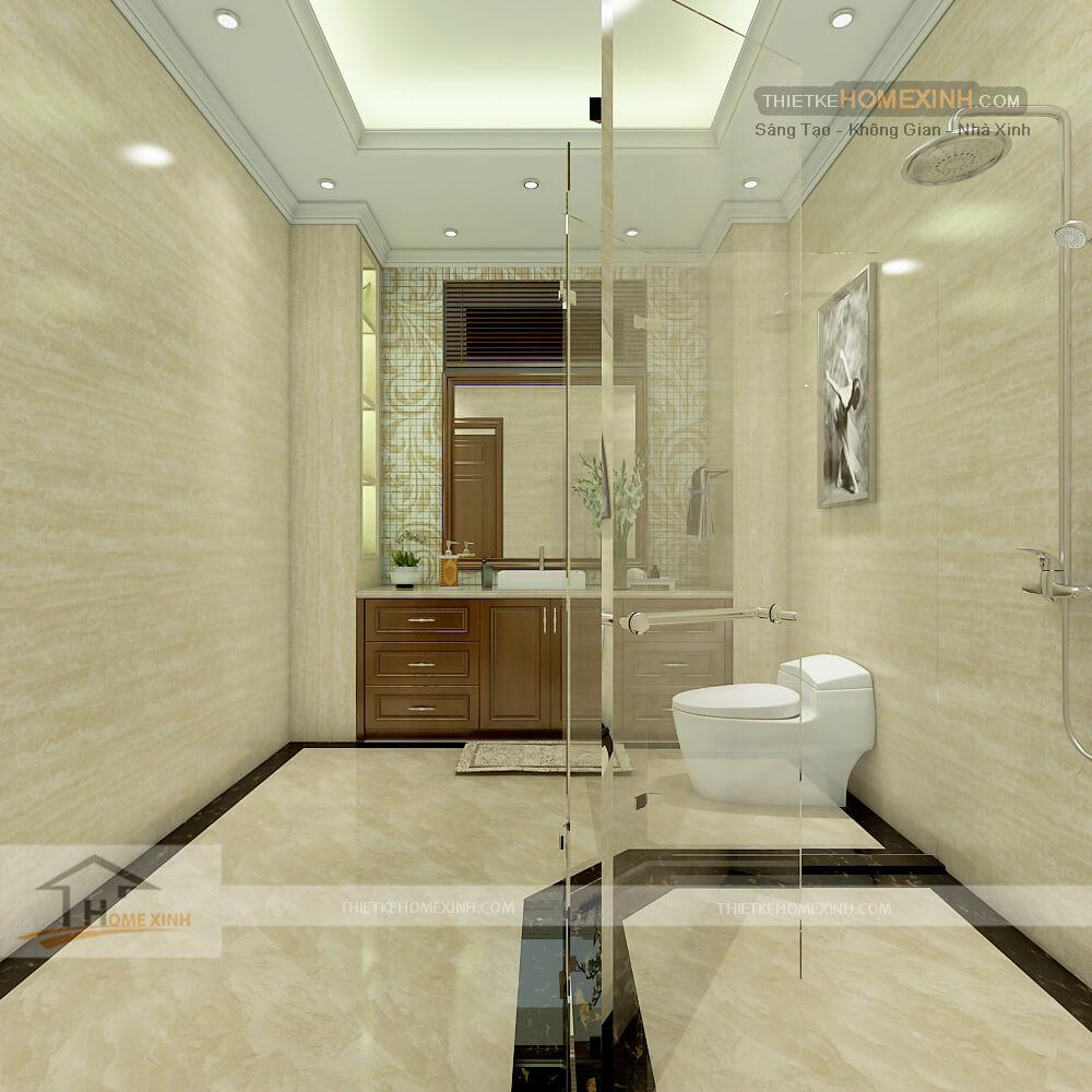 Nhà vệ sinh thiết kế hiện đại và sang trọng