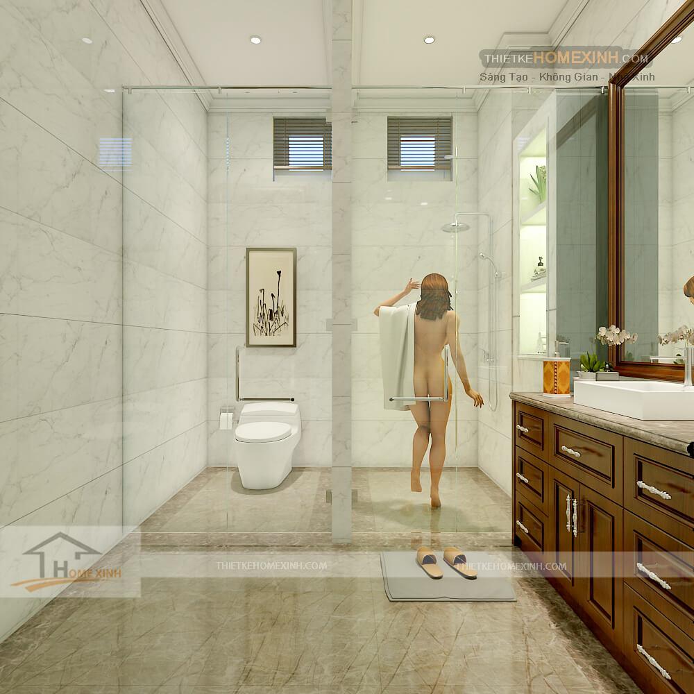 Phòng vệ sinh được thiết kế hợp lý