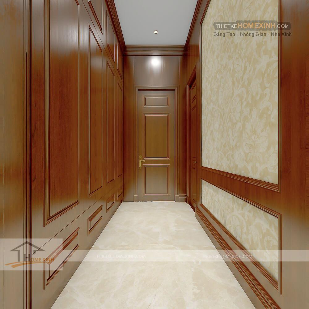 Hành lang tầng 2 biệt thự tân cổ điển tại Phú thọ