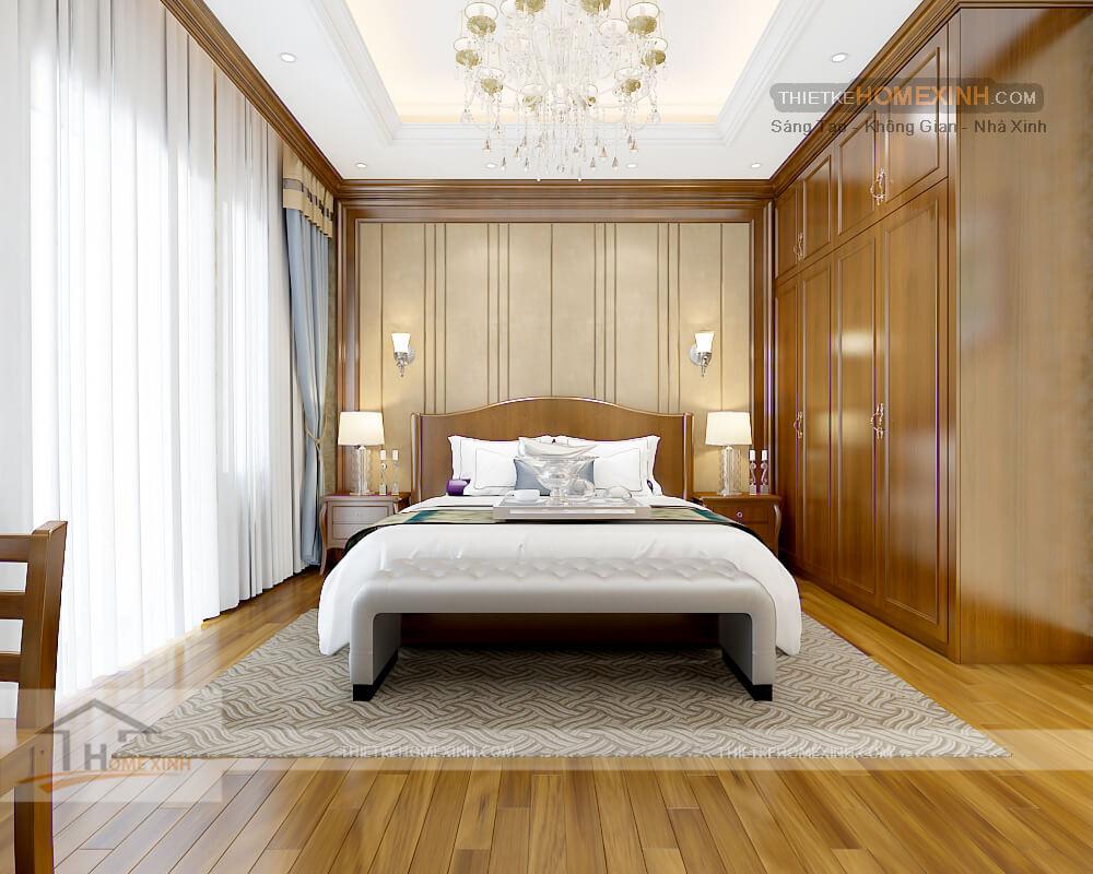 Nội thất phòng ngủ con trai biệt thự tân cổ điển tại Phú thọ