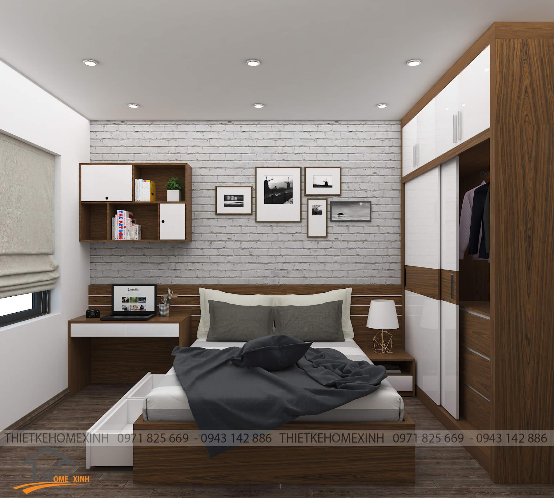 Phòng ngủ master hiện đại, tĩnh lặng