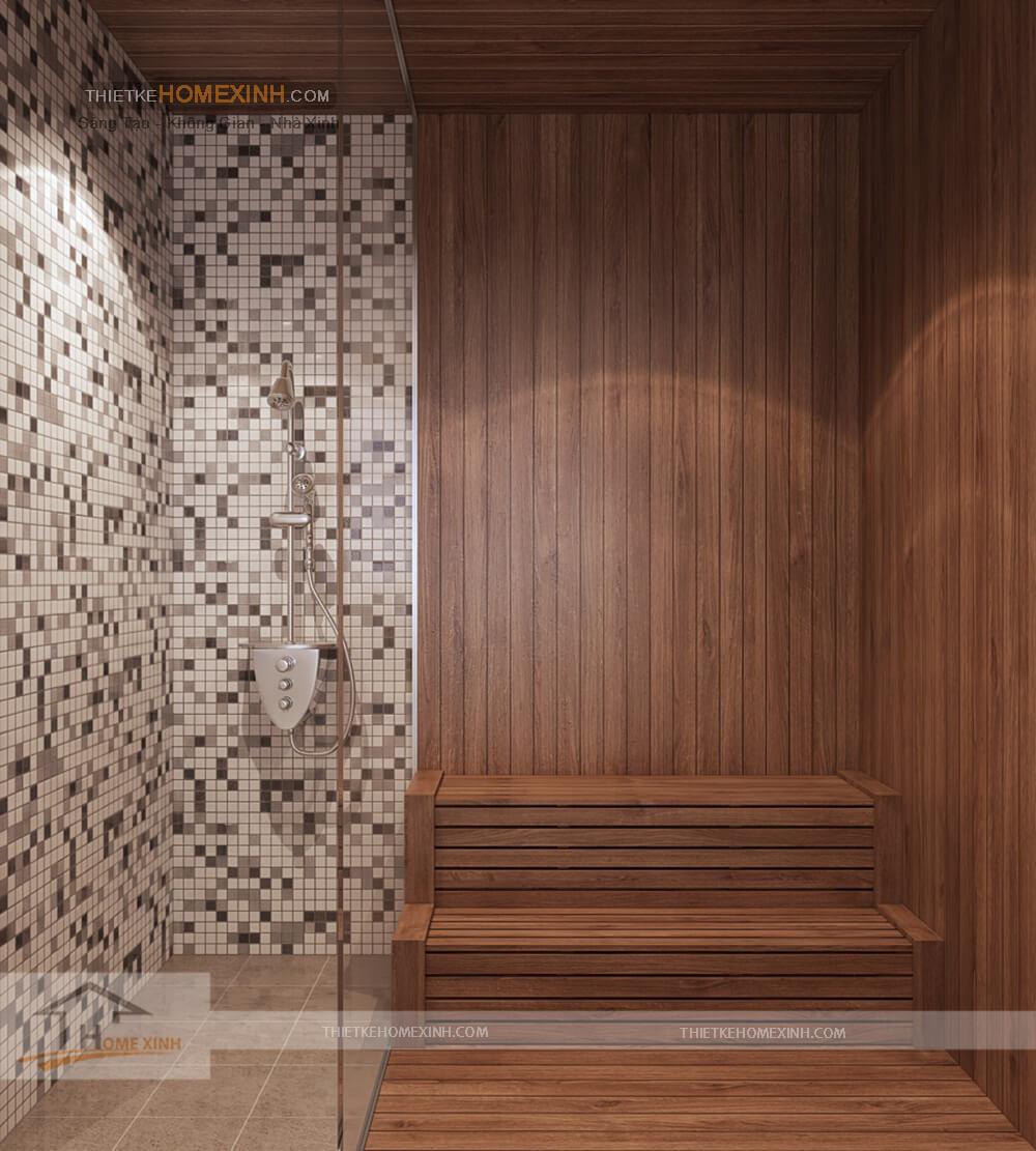 Phòng tắm trong thiết kế nội thất biệt thự tại sơn la