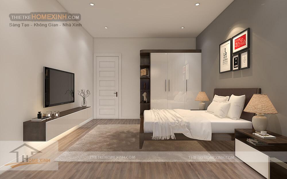 Phòng ngủ con biệt thự đẹp, ấm áp