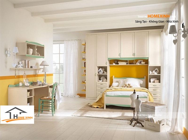 Tủ quần áo hiện đại kết hợp giường ngủ đa năng