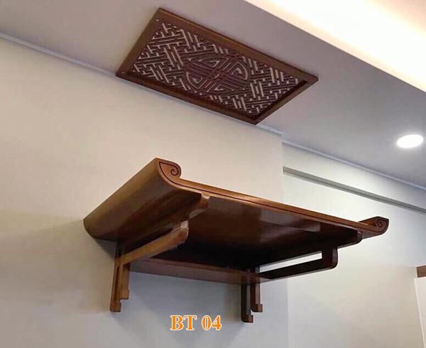 Bàn thờ treo tường từ gỗ Hương