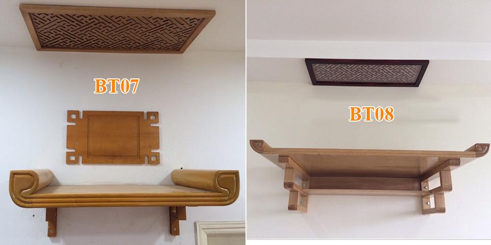 Mẫu bàn thờ treo BT07 và BT08