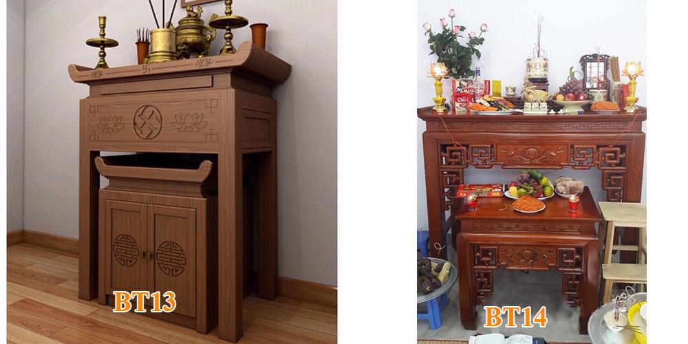Mẫu bàn thờ BT13 và BT14