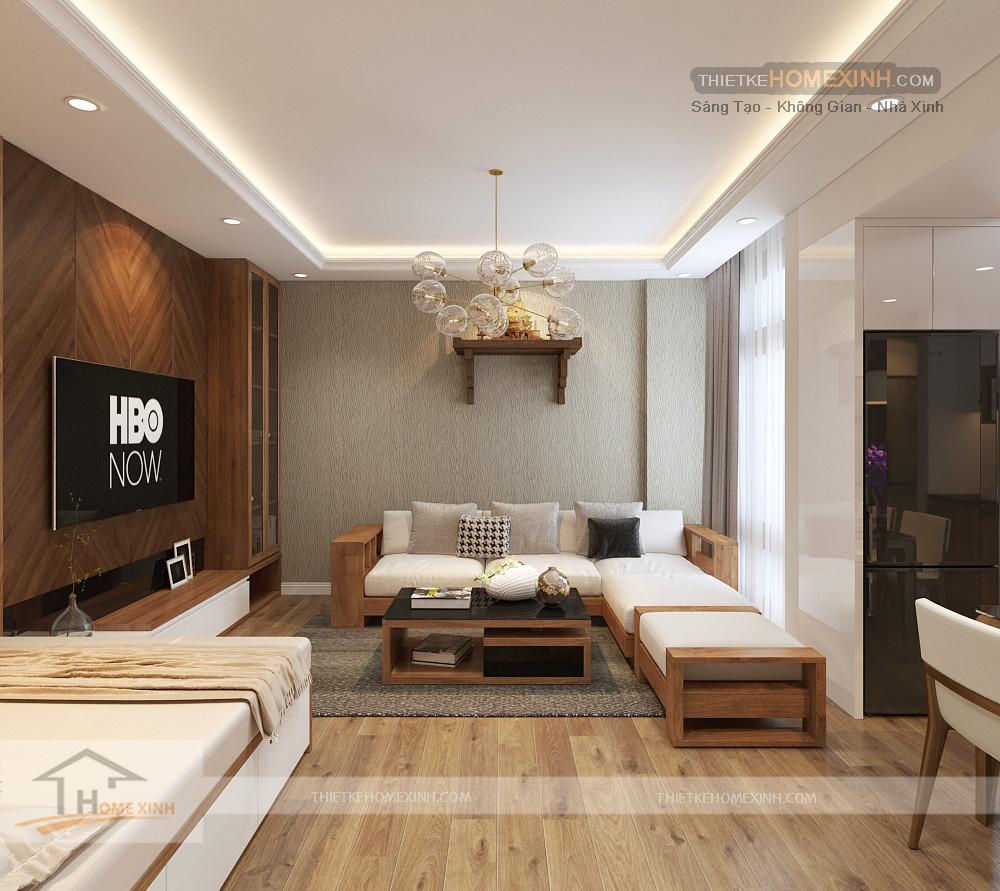 Không gian nội thất phòng khách của căn hộ