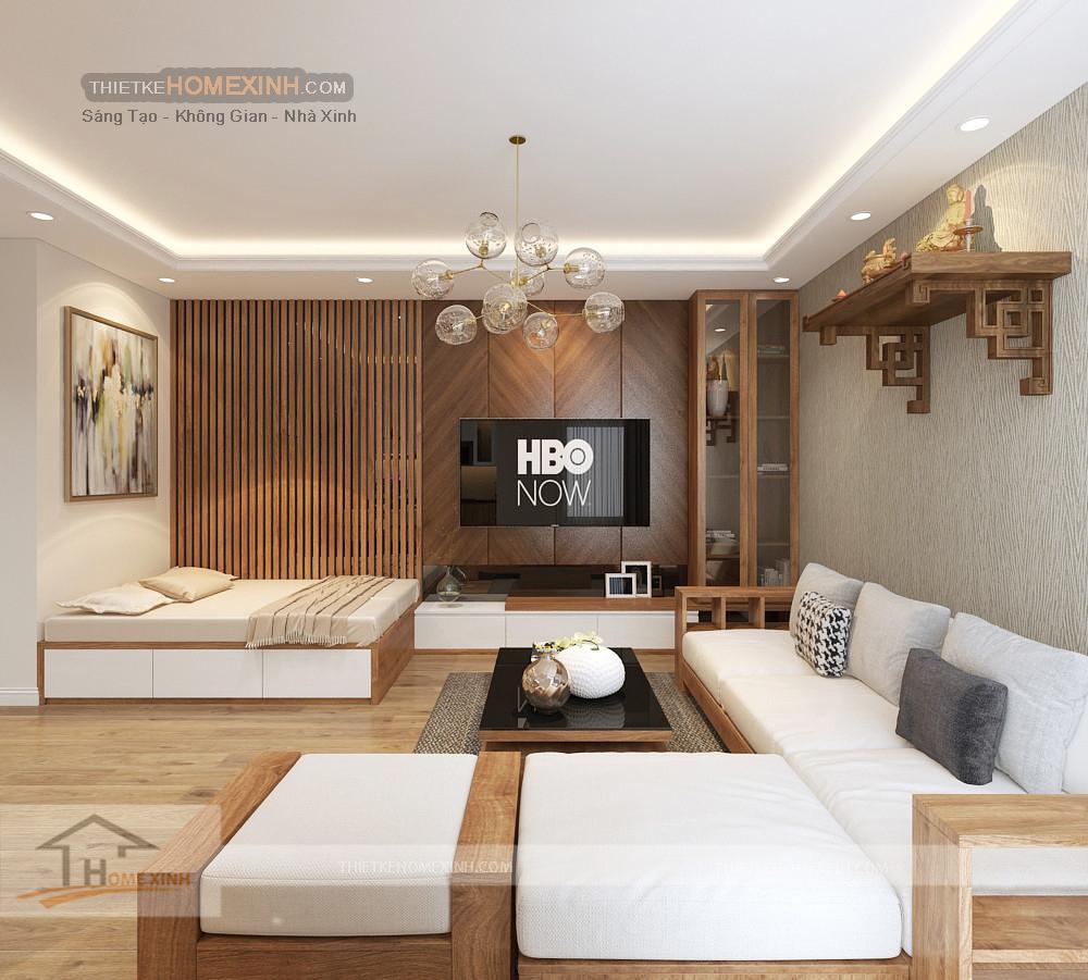 Phòng khách được thiết kế theo nhu cầu sử dụng của gia chủ