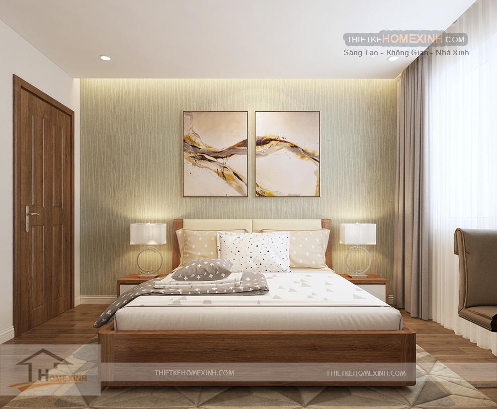 Phòng ngủ master thiết kế hài hòa