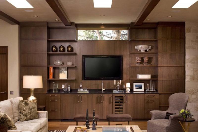thiết kế tủ phòng khách hiện đại