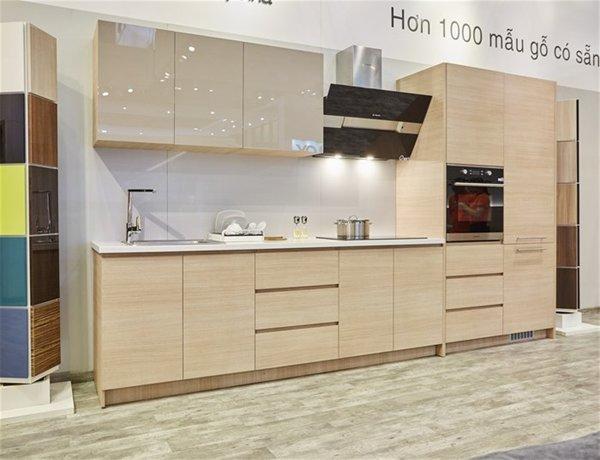 Sản phẩm tủ bếp làm từ gỗ an cường