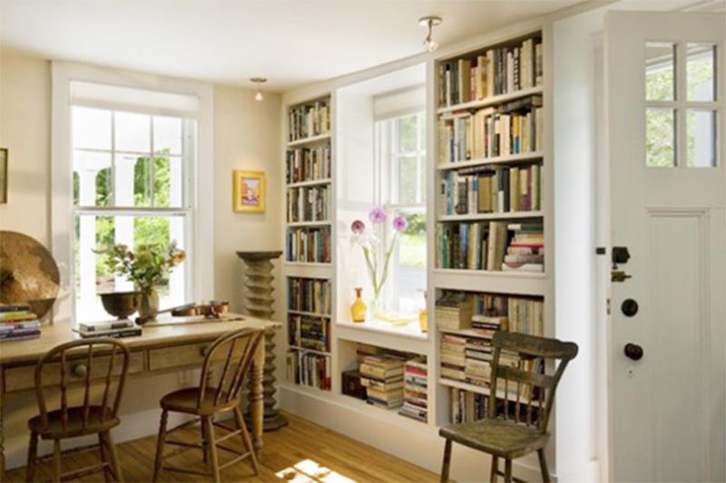 Tủ sách trong phòng ăn