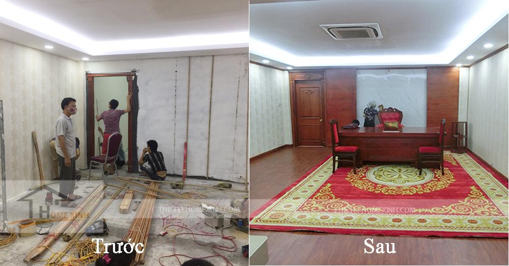 Hình ảnh trước và sau khi thi công văn phòng