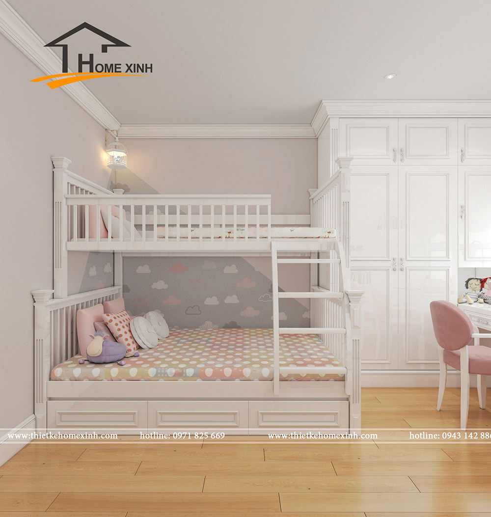 Mẫu phòng ngủ trẻ em biệt thự chú Huy - ảnh 2