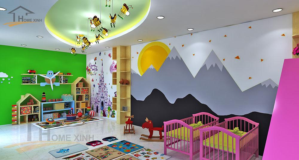 Thiết kế phòng học cho trẻ 3 tuổi