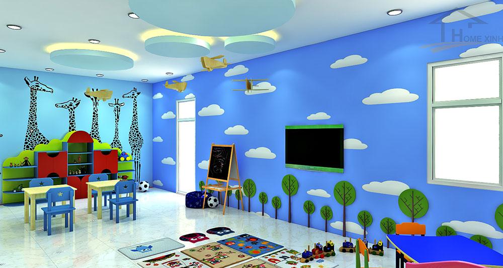 Thiết kế phòng học cho trẻ 4 tuổi