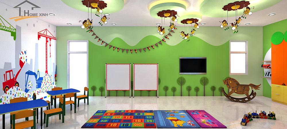 Thiết kế phòng học cho trẻ 5 tuổi