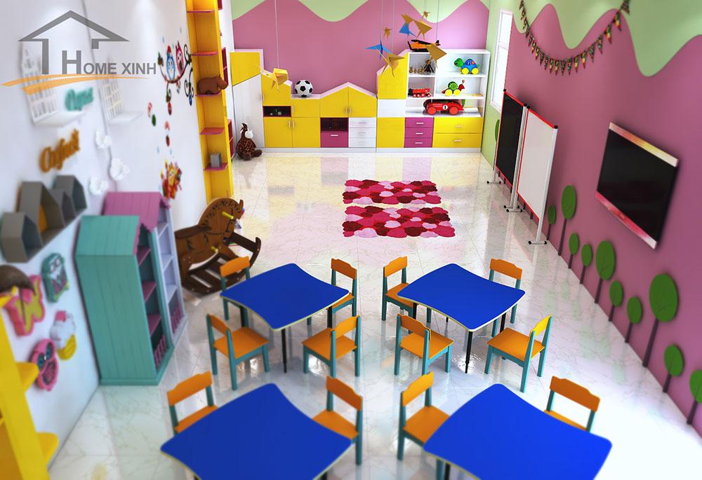 Thiết kế phòng học cho trẻ 6 tuổi