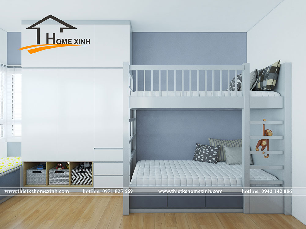 Giường tầng là giải pháp rất hợp lý cho gia chủ