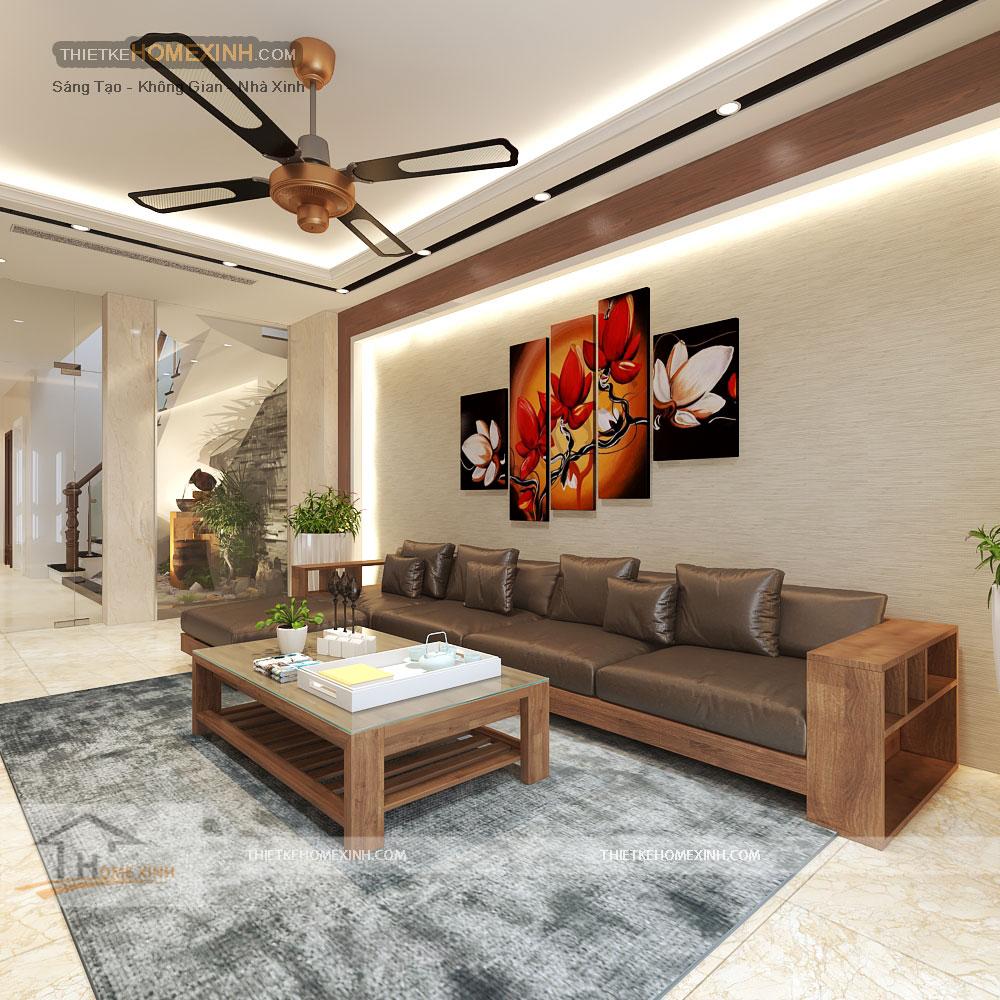 Thiết kế nội thất phòng khách nhà liền kề
