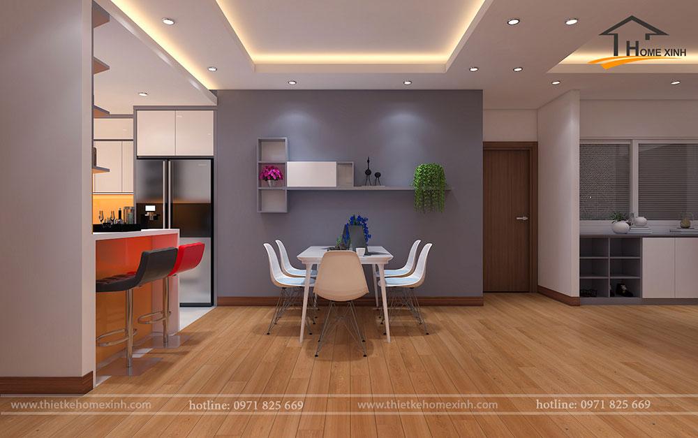 Không gian chung của căn hộ khi thiết kế xong trả nên rất hài hòa