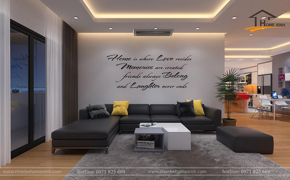 Thiết kế phòng khách hiện đại và trẻ trung cho gia chủ