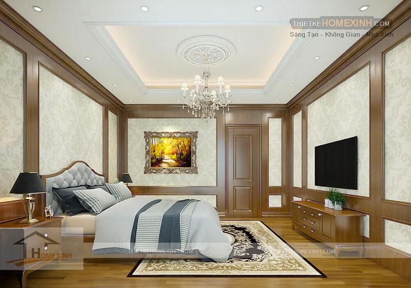 Phòng ngủ trong thiết kế biệt thự tại Phú Thọ
