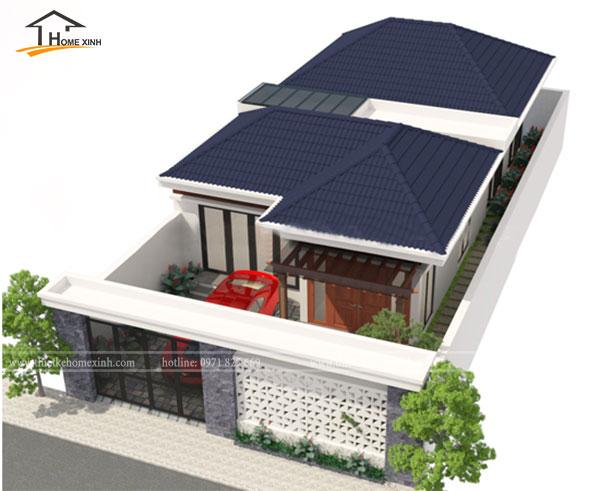 Mẫu thiết kế biệt thự 1 tầng nhà anh Minh tại Hoàng Mai, Hà Nội