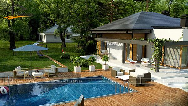 Mẫu thiết kế biệt thự 1 tầng tại Quảng Ninh