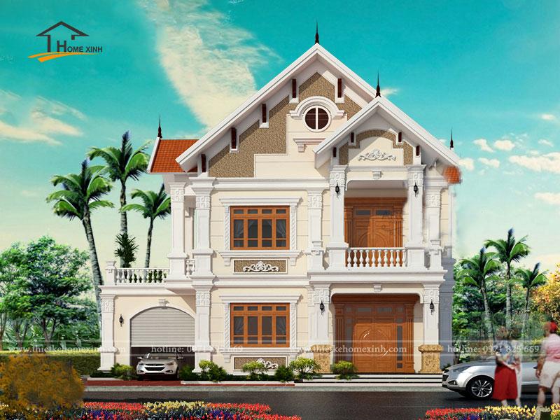 Thiết kế nhà biệt thự đẹp 2 tầng - ảnh 1