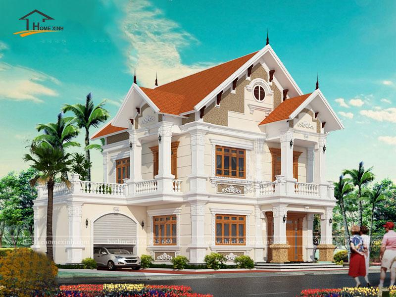 Thiết kế nhà biệt thự đẹp 2 tầng - ảnh 2