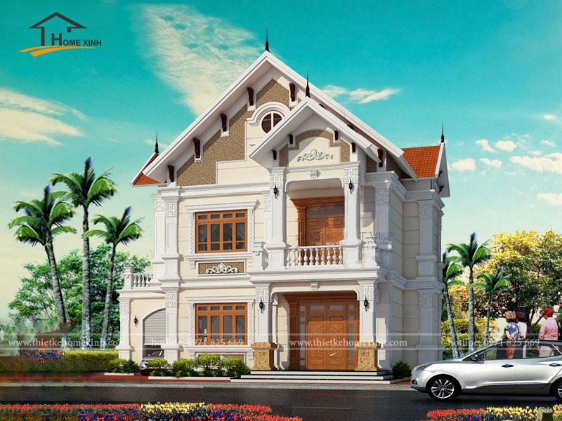 Thiết kế nhà biệt thự đẹp 2 tầng - ảnh 3