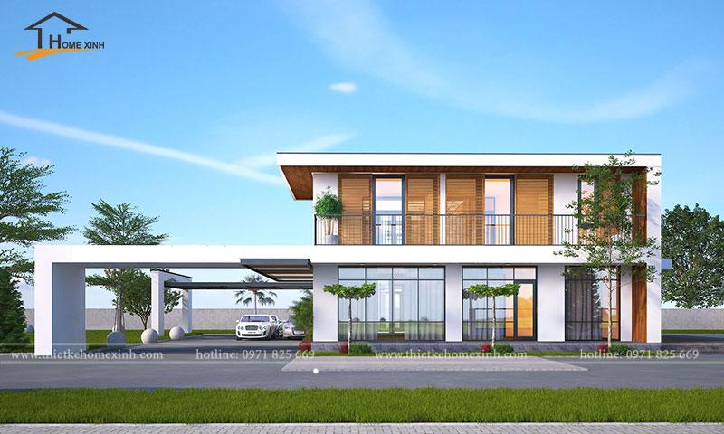Thiết kế biệt thự 2 tầng hiện đại