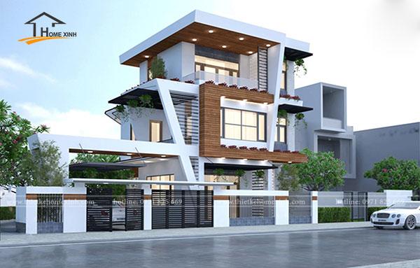 Thiết kế biệt thự 3 tầng 1