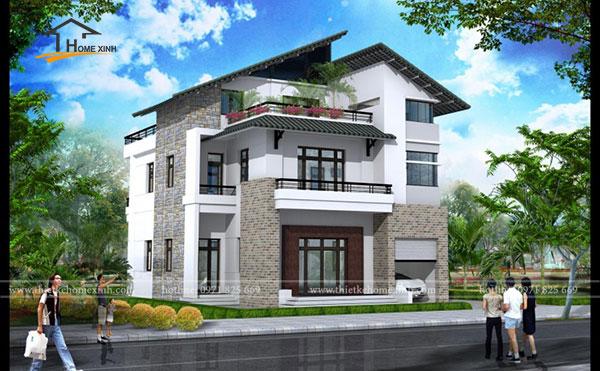 Cần lựa chọn kỹ đơn vị thiết kế để có được một ngôi biệt thự 3 tầng đẹp